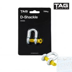 D-Shackle 8mm 200kg Galvanised TAG - Australia Tow Bars & Performance - australiatowbars.com.au