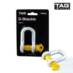 D-Shackle 13mm 2000kg Galvanised TAG - Australia Tow Bars & Performance - australiatowbars.com.au