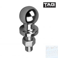 50mm chrome tow ball 3500kG 63mm shank TAG  - Australia Tow Bars & Performance - australiatowbars.com.au