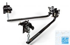 Weight Distribution Hitch 360kg 800lb Round Bar Style 909926 Milford Industries - Weight Distribution Bars - Australia Towbars & Performance - australiatowbars.com.au